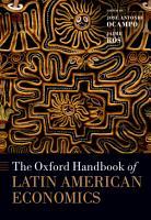 The Oxford Handbook of Latin American Economics PDF