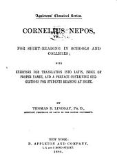 Cornelius Nepos, for sight-reading in schools and colleges