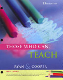 Cengage Advantage Books  Those Who Can  Teach PDF
