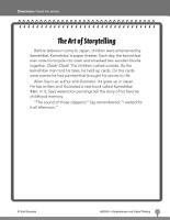 Test Prep Level 2  The Art of Storytelling Comprehension and Critical Thinking PDF