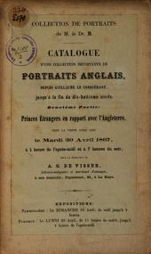 Catalogue d'une collection importante portraits anglais (deuxième partie)