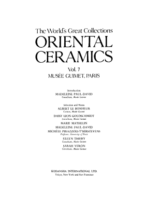 Oriental Ceramics  the World s Great Collections  Mus  e Guimet  Paris PDF