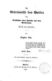 Die Geheimnisse des Volkes oder Geschichte einer Familie aus dem Proletariat: Band 3