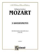 Divertimenti, K. 136, 137, 138: String Quartet