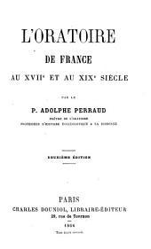 L'Oratoire de France au XVIIe et au XIXe siècle