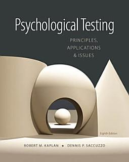 Psychological Testing  Principles  Applications  and Issues Book