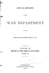 Annual Report of the Chief of Engineers to the Secretary of War for the Year ...: Part 3