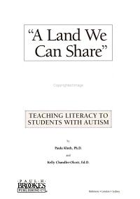 A Land We Can Share