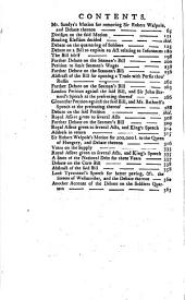 The History and Proceedings of the House of Commons: 1740