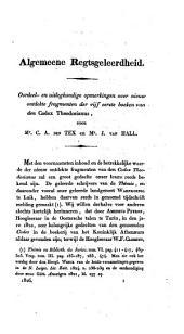 Bijdragen tot regtsgeleerdheid en wetgeving: Deel 1