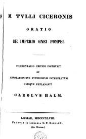 Oratio de imperio Gnei Pompei ...