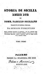 Storia di Sicilia, Deche due: Volume 1