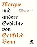 Morgue und andere Gedichte PDF