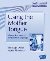 Using the Mother Tongue PDF
