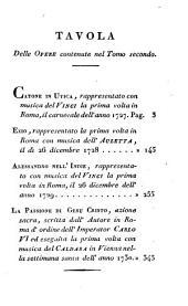 Opere di Pietro Metastasio: Volume 2
