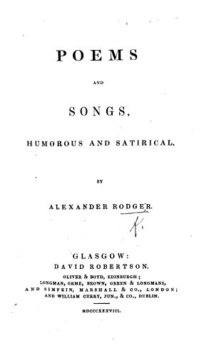 Poems and Songs  humorous and satirical