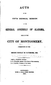 Acts of the General Assembly of the State of Alabama