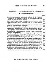 Les Origines de L'Histoire: Volume 2, Part 1