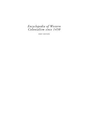 Encyclopedia of Western Colonialism since 1450 PDF