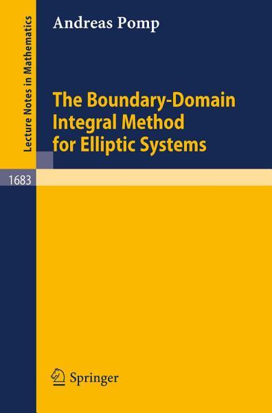 The Boundary Domain Integral Method For Elliptic Systems