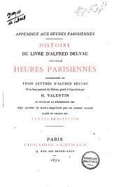 Histoire du livre d'Alfred Delvau: heures parisiennes