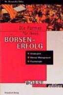 Die Formel f  r ihren B  rsenerfolg   workbook PDF