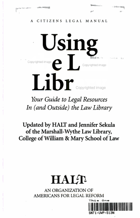 Using the Law Library PDF