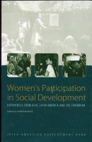 Women s Participation in Social Development PDF