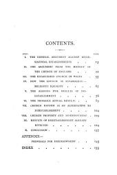Disestablishment, by H. Richard and J.C. Williams. (Imperial parl.).
