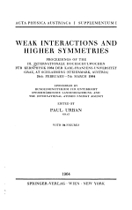 Weak Interactions and Higher Symmetries