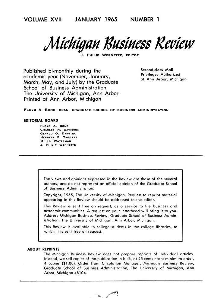 Michigan Business Review
