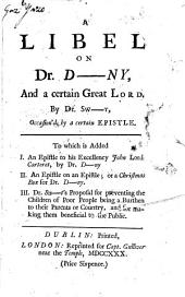 A Libel on Dr. D--ny, and a Certain Great Lord
