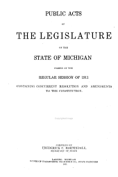Public Acts and Concurrent Resolutions of the Legislature of the State of Michigan