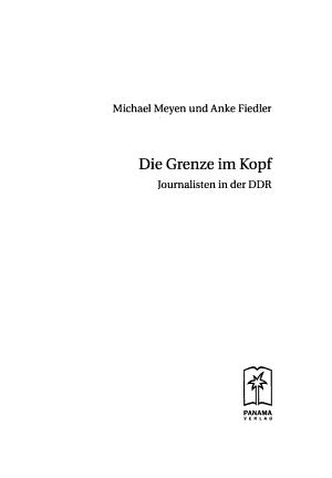 Die Grenze im Kopf PDF