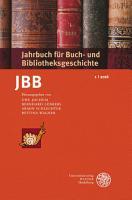 Jahrbuch f  r Buch  und Bibliotheksgeschichte 1   2016 PDF