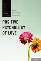 Positive Psychology of Love PDF