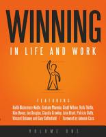 Winning in Life and Work  Volume One PDF