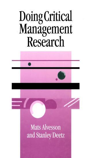 Doing Critical Management Research PDF