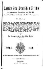Annalen des Deutschen Reichs für gesetzgebung, verwaltung und volkswirtschaft. Rechts- und staatswissenschaftliche zeitschrift und materialiensammlung ...