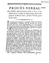 Procès-verbal... [Lettres de Dubois-Crancé, Gauthier, Chambon. Réponses du comité]