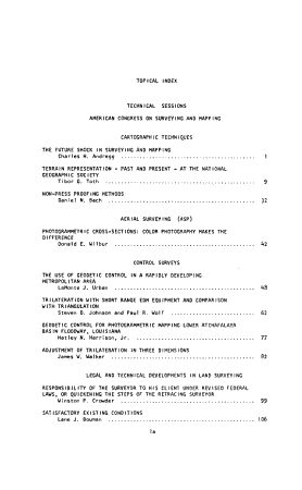 Proceedings of the American Congress on Surveying and Mapping Fall Convention  Walt Disney World  Lake Buena Vista  Florida  October 2 5  1973 PDF