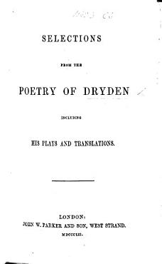 Selections from the Poetry of Dryden PDF