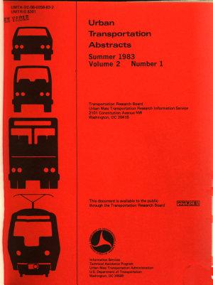 Urban Transportation Abstracts