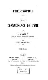 Philosophie de la connaissance de l'âme: Volume2