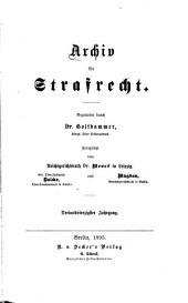 Archiv für Strafrecht und Strafprozess: Band 43