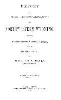 report upon the reconnaissance of northwestern wyoming PDF