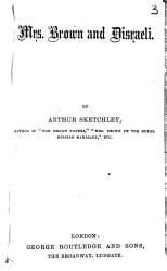 Mrs Brown And Disraeli Book PDF