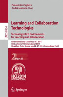 Learning and Collaboration Technologies  Technology Rich Environments for Learning and Collaboration