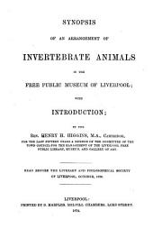 Synopsis of an Arrangement of Invertebrate Animals in the Free Public Museum of Liverpool: With Introduction