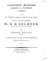 Moallaka: Arabice et Suethice, المجلد 1
